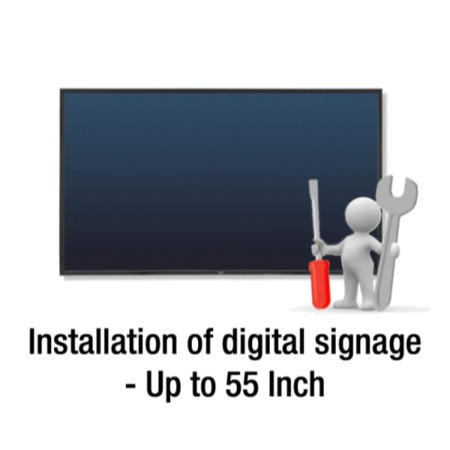 Installation of Digital Signage and Large Format Displays up to 55""