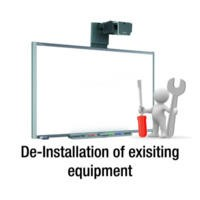 De-Installation of exisiting Projector/board/faceplate/speakers