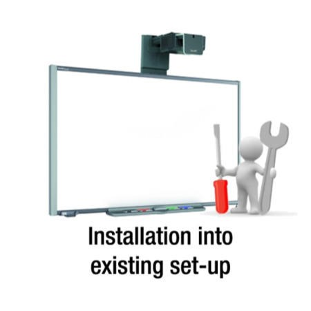 Installation of a projector into an existing mount