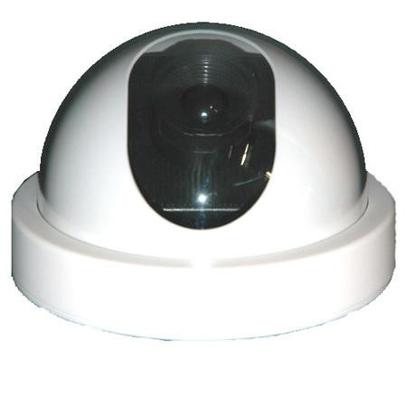 INTDUMMY Internal Dummy Dome CCTV Camera White with flashing LED light