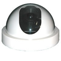 Internal Dummy Dome CCTV Camera White with flashing LED light