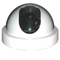 Internal Dummy Dome CCTV Camera with flashing LED light - White