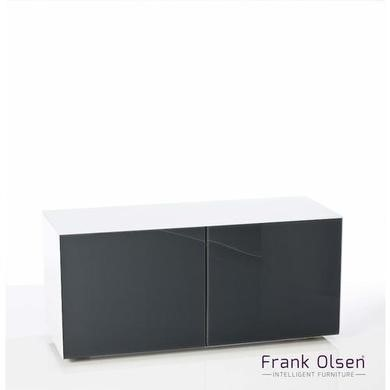 Frank Olsen INTEL1100WHT-GRY White and Grey TV Cabinet for up to 55'' TVs