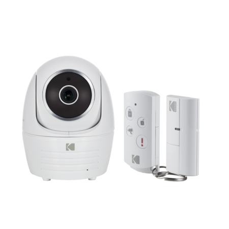Kodak IP101WG Security Camera Full HD Starter Kit Edition with Door Sensor and Remote Control