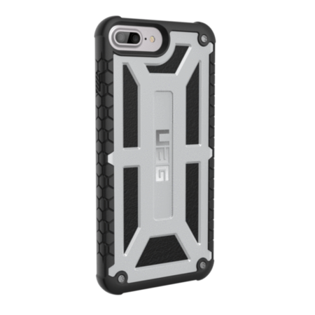 UAG iPhone 8/7/6S Plus 5.5 Screen Monarch Case - Platinum/Black