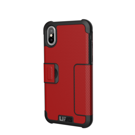 UAG iPhone X 5.8 Screen Metropolis Case - Magma/Silver Logo