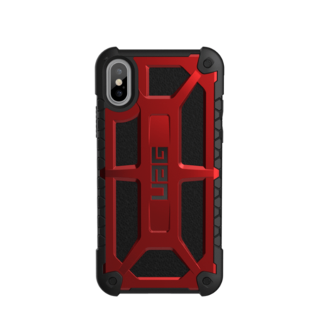 UAG iPhone X 5.8 Screen Monarch Case - Crimson/Black/Black Logo