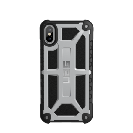 UAG iPhone X 5.8 Screen Monarch Case - Platinum/Black/Silver Logo