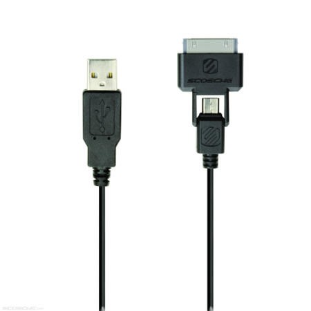 Retractable SynCable Pro - usb to micro USB and Apple 30-pin charge & sync cable