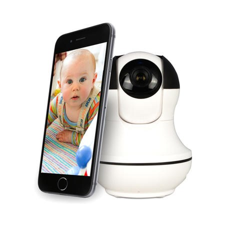 GRADE A1 - electriQ HD 1080p Wifi Pet & Baby Monitoring Pan Tilit Zoom Camera with 2-way Audio & dedicated App