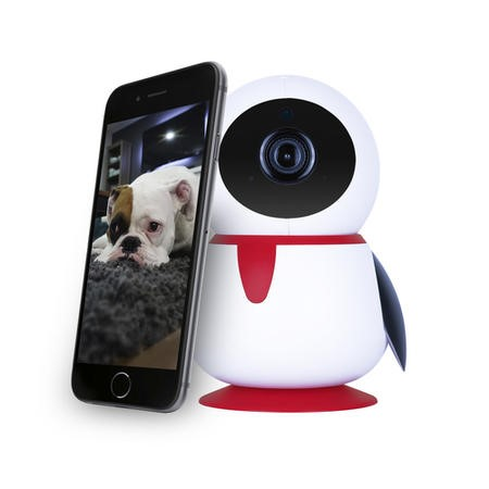 GRADE A1 - electriQ HD 1080p Wifi Pet Monitoring Pan Tilt Zoom Camera with 2-way Audio & dedicated App