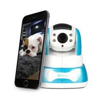 electriQ 480p Wifi Pet Monitoring Pan Tilt Zoom Camera with 2-way Audio & dedicated App - Blue