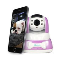 electriQ HD 720p Wifi Pet Monitoring Pan Tilt Zoom Camera with 2-way Audio & dedicated App - Purple