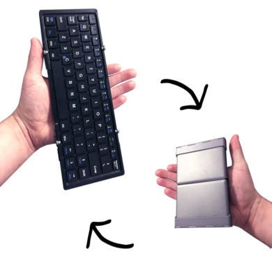 Folding Mini Bluetooth Keyboard + Free Case