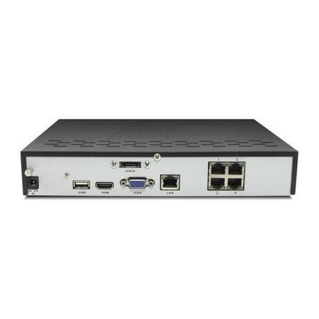 GRADE A1 - electriQ 4 Channel POE 1080P/720P IP Network Video Recorder with 1TB Hard Drive
