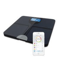 GRADE A1 - ElectriQ Bluetooth Smart Body Scale with Specialised ITO Glass and FREE iOS & Android app - Black