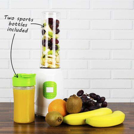 electriQ Active Sports Blender - Includes 2 Free Bottles - BPA Free 350W