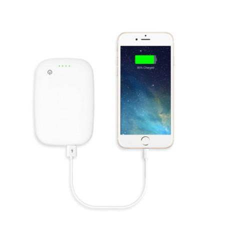 4000mAh Power Bank With Qi Wireless Charging Pad 2in1 - White