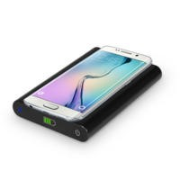 7000mAh Power Bank With Qi Wireless Charging Pad 2in1 - Black