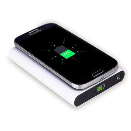 7000mAh Power Bank With Qi Wireless Charging Pad 2in1 - White
