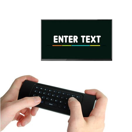 GRADE A1 - electriQ 3-in-1 Magic Remote with Wireless Keyboard and Air Mouse plus Voice Input for Sm
