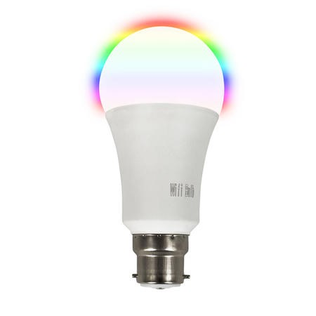 electriQ Smart dimmable colour Wifi Bulb with B22 bayonet ending - Alexa & Google Home compatible