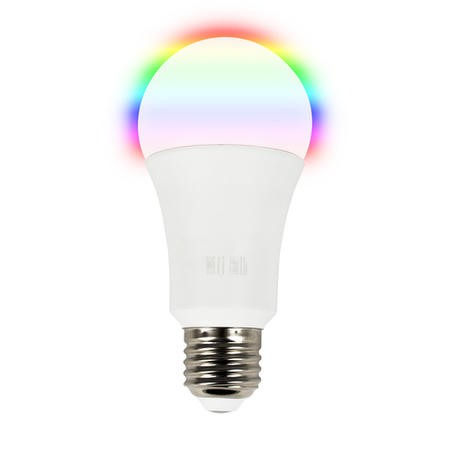 GRADE A1 - electriQ Smart Lighting dimmable colour Wifi Bulb with E27 screw ending - Alexa & Google Home compatible