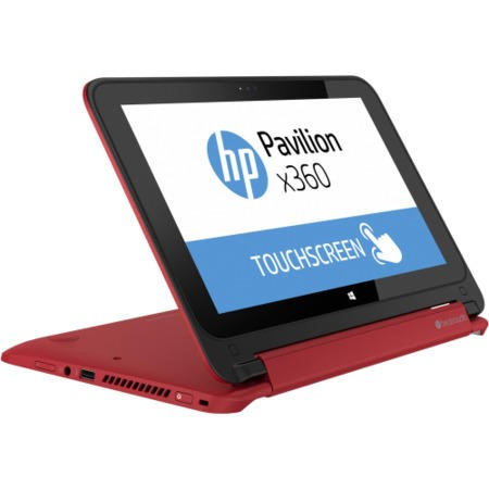 Refurbished Grade A1 HP Pavilion 11-n001na x360 4GB 500GB Windows 8.1 Touchscreen Laptop in Red & Silver
