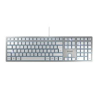 CHERRY KC 6000 Slim Silver Flat Designer Desktop PC Keyboard