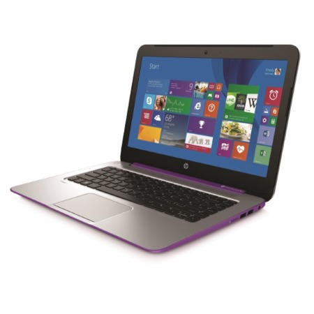 Refurbished Grade A1 HP Stream 14 AMD A4 Quad Core 2GB 32GB SSD Radeon R3 14 inch Windows 8.1 Laptop in Purple & Silver