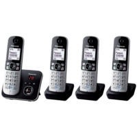 Panasonic KX-TG6824EB Cordless Telephone with Answer Machine - Quad