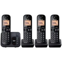 Panasonic KX-TGC224EB DECT Call Block TAM - Quad in Black
