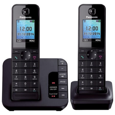 Panasonic KX-TGH222EB DECT TAM Colour Screen - Twin in Black