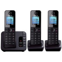 Panasonic KX-TGH223EB DECT TAM Colour Screen - Triple in Black