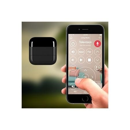 KlikR Bluetooth IR Blaster Remote Black - Control IR Devices From Your iOS or Android Smartphone