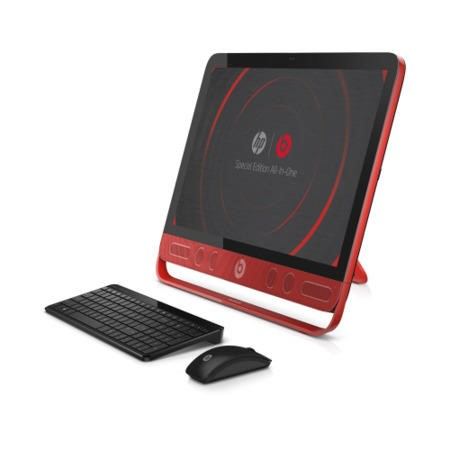 "Hewlett Packard HP Envy 23-N250NA Core i5-4460T 12GB 1TB DVDSM Windows 8.1 23"" Touchscreen All-In-One in Red & Black"
