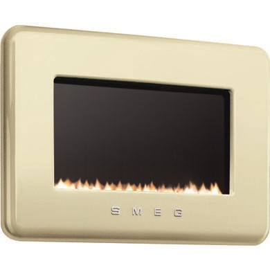Smeg L30FABCR 50s Retro Style Natural Gas Wall Fire in Cream
