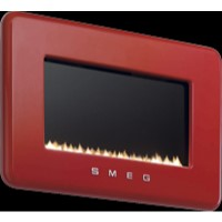 Smeg L30FABRE 50s Retro Style Natural Gas Wall Fire in Red