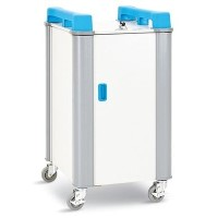 Monarch 20 Port Mini Laptop Trolley Vertical - Blue