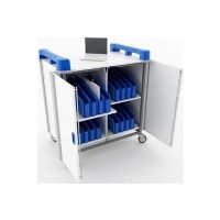Monarch 32 Port Mini Laptop Trolley Vertical - Blue