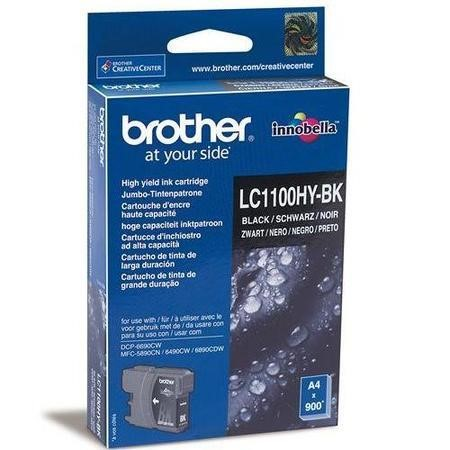 Brother LC 1100HYBK High Yield Print Cartridge - Black