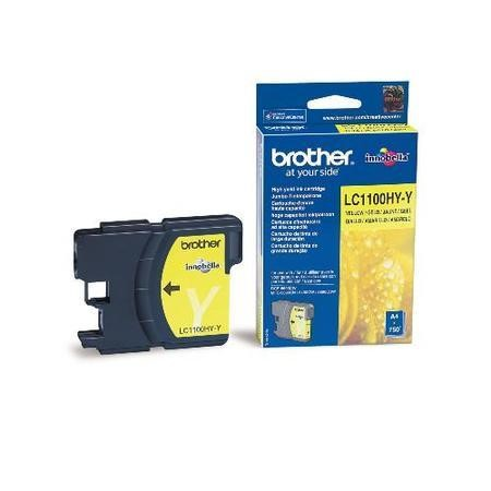 Brother LC 1100HYY High Yield Print Cartridge - Yellow