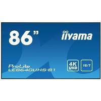 "Iiyama ProLite LE8640UHS-B1 86"" 4K Ultra HD Large Format Display"
