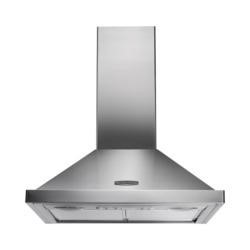 Rangemaster 60cm Chimney Cooker Hood Stainless Steel With Chrome Badge