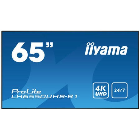 "Iiyama LH6550UHS-B1 65"" 4K Ultra HD Large Format Display"