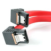StarTech.com 12in Right Angle Latching Serial ATA SATA Cable