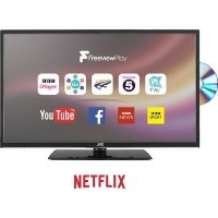 "Grade A2 Refurb JVC LT-24C685 24"" Smart LED TV with Built-in DVD Player"