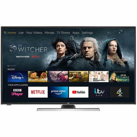 "Refurbished JVC Fire Edition 55"" 4K Ultra HD with HDR LED Smart TV"