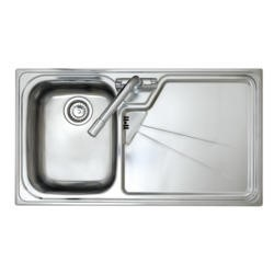 Astracast LU10XXHOMESKL Lausanne Single Bowl Left Hand Drainer Stainless Steel Sink