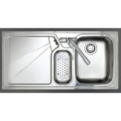 Astracast LU15XXHOMESKR Lausanne 1.5 Bowl Right Hand Drainer Stainless Steel Sink